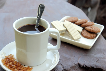 Coffee and snack for break Stock Photo - 17178504