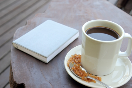 Coffee and blue note book Stock Photo - 17178501