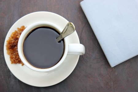Coffee and blue note book Stock Photo - 17178513