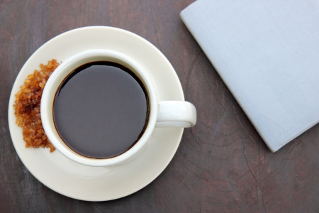 Coffee and blue note book Stock Photo - 17178509