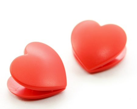 Twin heart on white background Stock Photo - 17451405