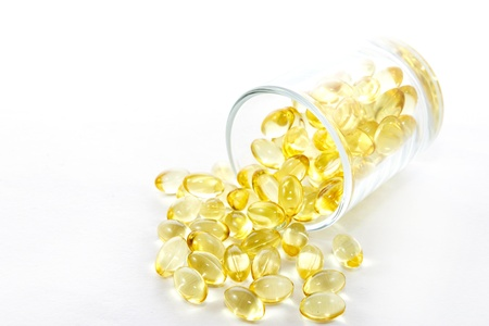 cod oil: Cod liver oil for healthy Stock Photo