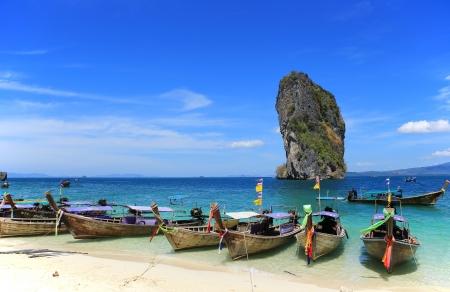 Sea Traveler in Thailand, poda beach, krabi province  Stock Photo - 18017265