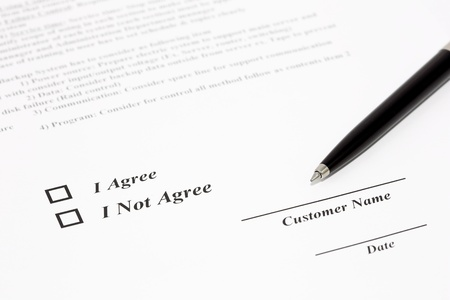 Sign document with black pen Stock Photo - 18207105