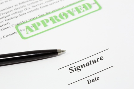 Sign document with black pen Stock Photo - 18253773