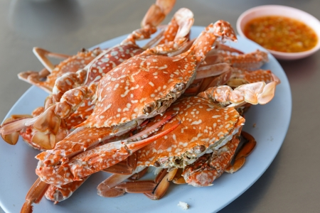 horse Crab boil for eat