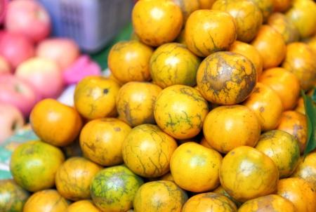 orange in thailand market photo
