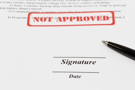 sign document with black pen Stock Photo - 19487714