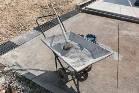 Cement mix on the cart photo