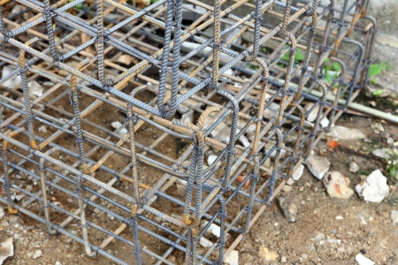 steel rod for construction job  photo