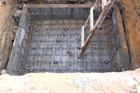 foundation for home building photo