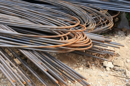 steel rod for construction job  photo