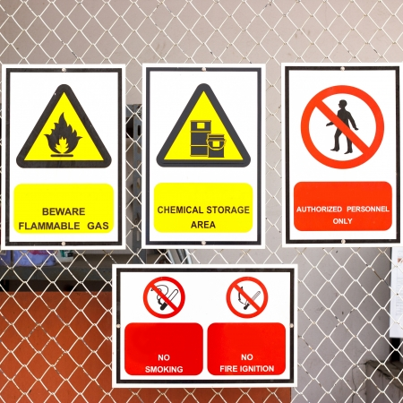 safety signs: safety signs broad Stock Photo