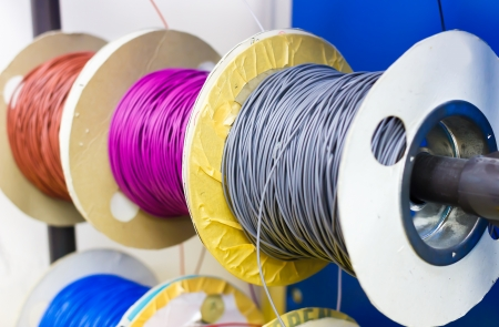colorful electric cable Stock Photo