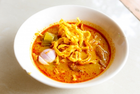 soi: khao soi thai food  Stock Photo