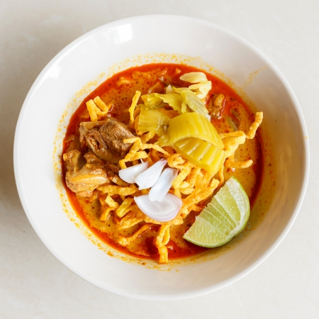 soi: khao soi thai food  Stock Photo