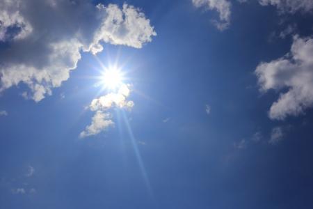 nimbi: clouds with sun in the blue sky
