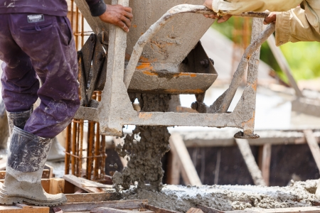 Cement mixer for house construction  Stock Photo