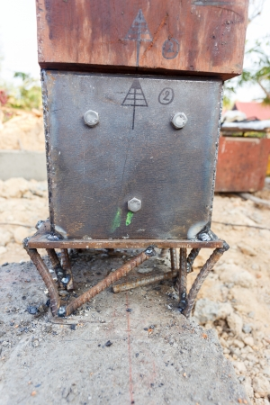 electrode: welding metal and wood by electrode with bright electric arc
