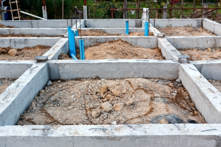 foundation for house building  photo