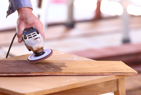 carpenter plane wood for house construction  photo