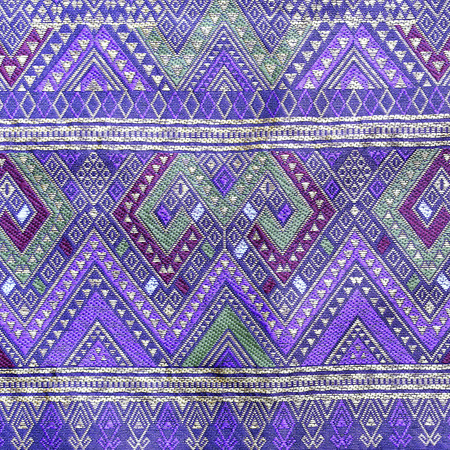 Thai silk fabric pattern  photo