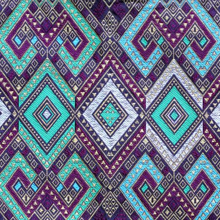 batik: Thai modèle de tissu de soie Banque d'images