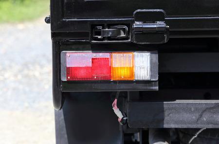 taillight: taillight of black car