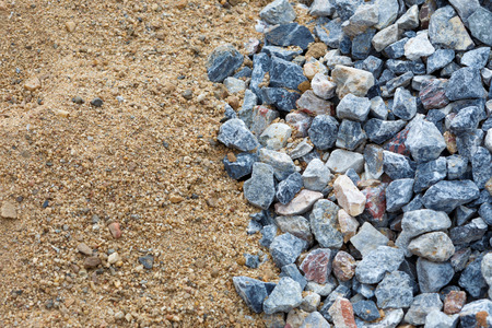 Sand and stone for construction work  photo