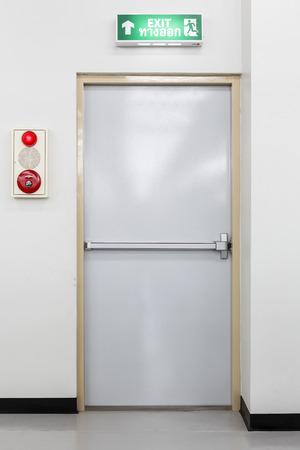 fire exit door  photo