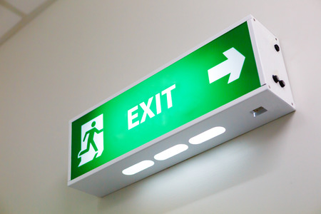 Fire exit sign Stock Photo - 34281038