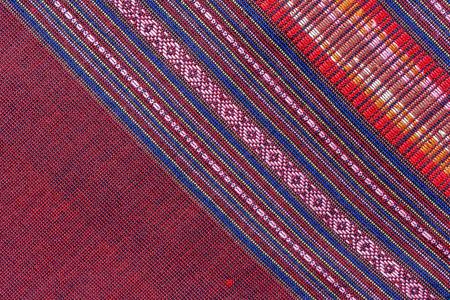 Thai silk fabric pattern photo