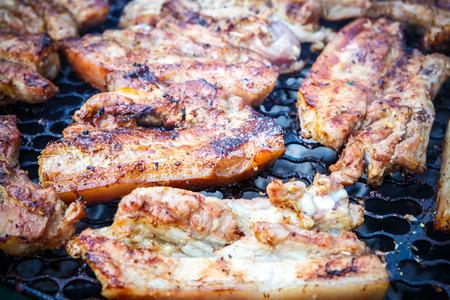 kabob: kabob pork grill Stock Photo
