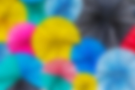Colorful circle paper pattern with blur filter photo