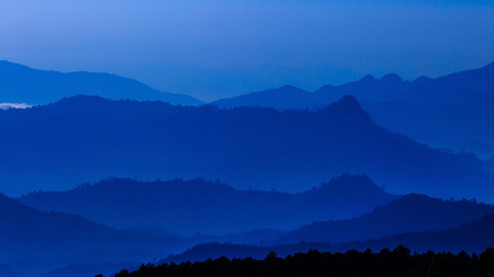 ridgeline: mountain leyer level in thailand Stock Photo