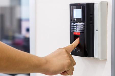 Finger scan for security system Banque d'images