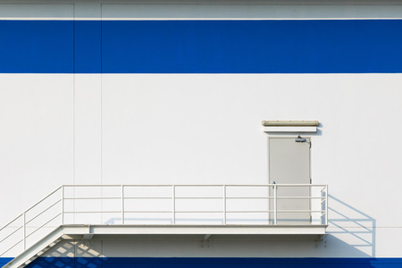 Emergency exit doorfor big factory photo