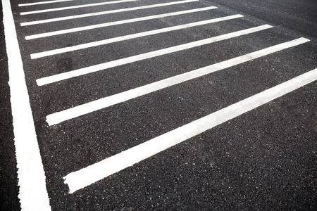 White line on road texture photo