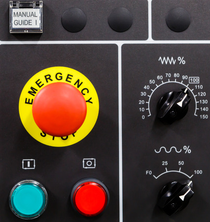 CNC machine control panel photo