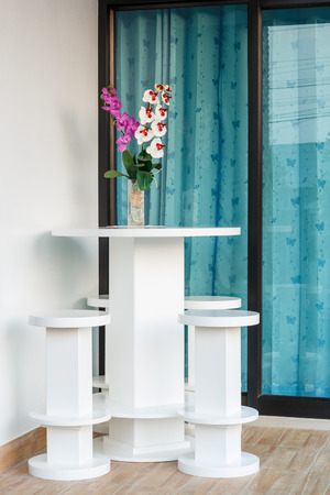 Modern Table and chairs for house photo