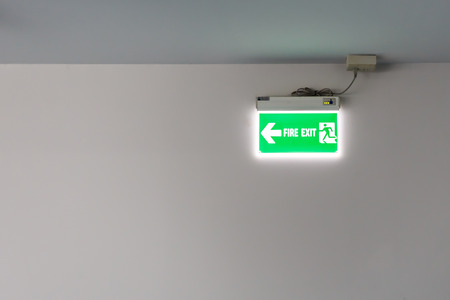 Fire exit light sign photo