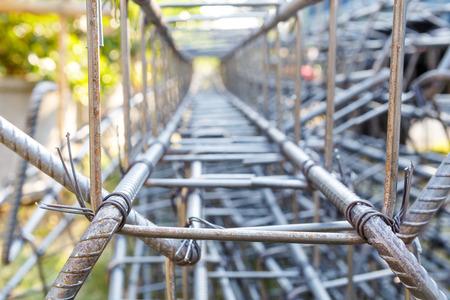 heavy joist: steel rod for construction job