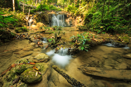 wonderful thailand: wonderful waterfall in thailand, Pugang waterfall chiangrai Stock Photo