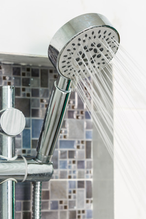 Modern Shower head in bathroom photo