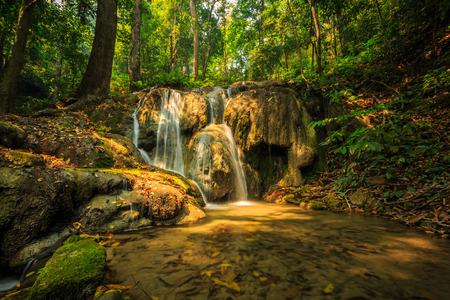 chiangrai: wonderful waterfall in thailand, Pugang waterfall chiangrai Stock Photo