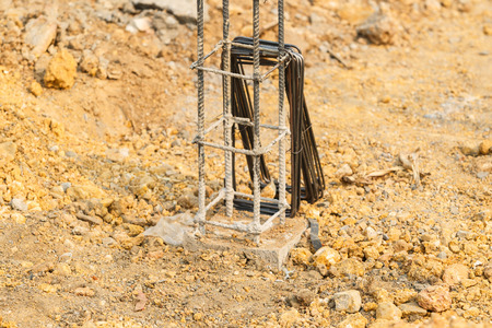 strong foundation: foundation steel rod for house building