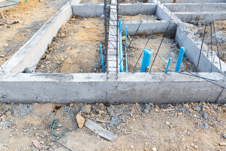 building foundation: foundation for house building