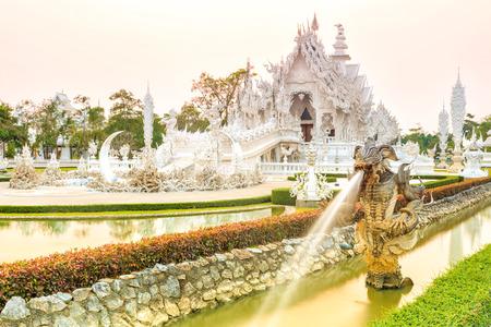 chiangrai: wat rong-khun temple chiangrai thailand Stock Photo