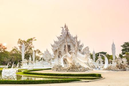 wat rong-khun temple chiangrai thailand photo