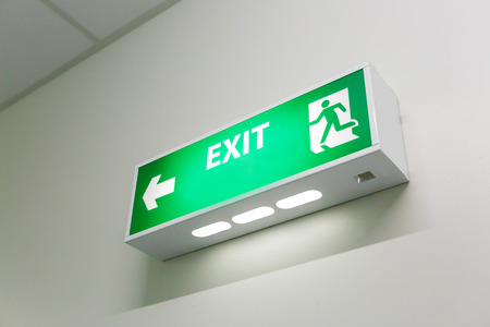 Fire exit sign photo